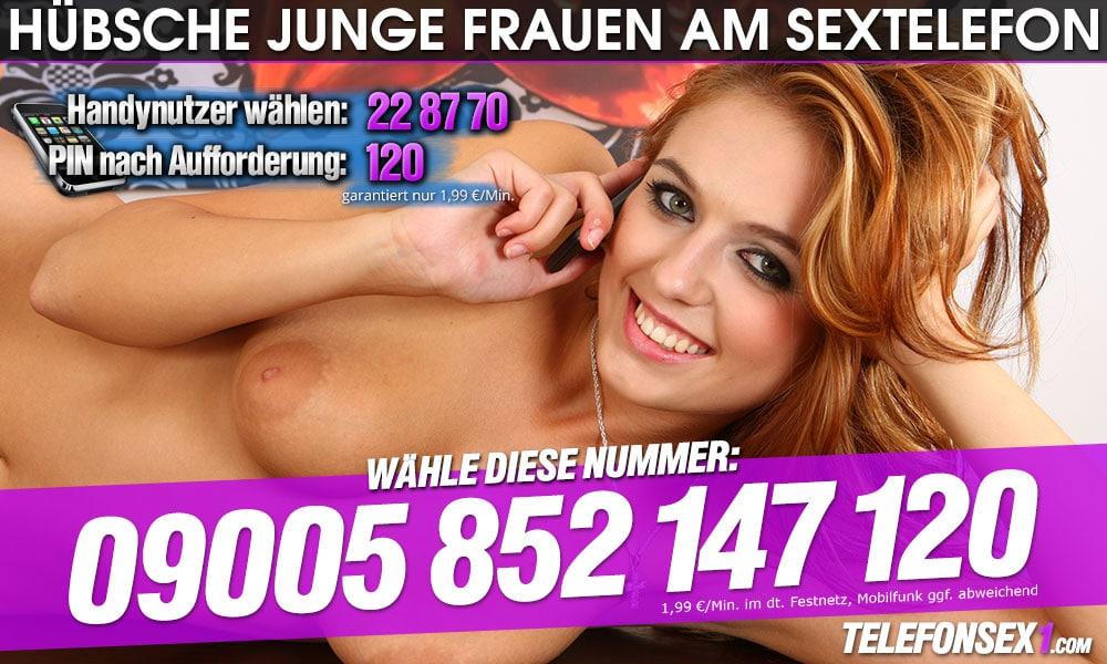 Telefonsex mit hübschen jungen Frauen