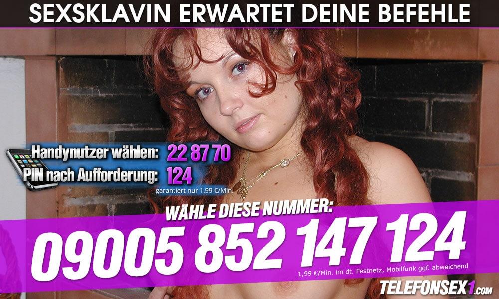 Junge Sexsklavin erwartet deine Befehle am Telefon