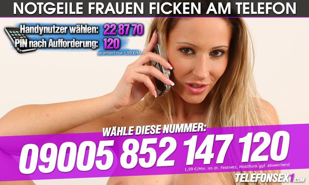 Notgeile Frauen ficken live am Telefon