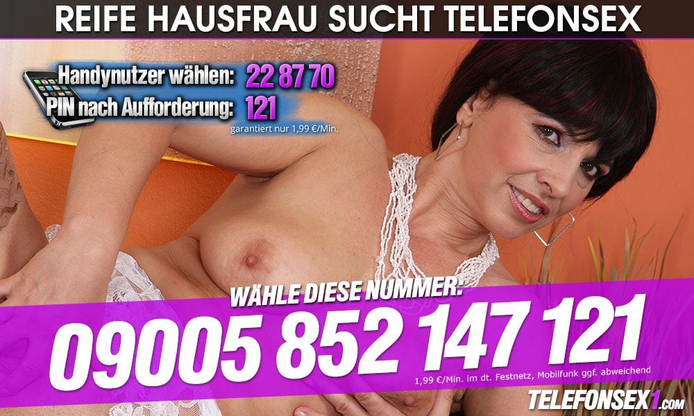 Tabuloser Telefonsex mit reifer Hausfrau